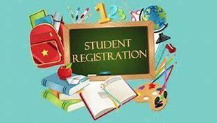 SIGN SHOWING SCHOOL REGISTRATION