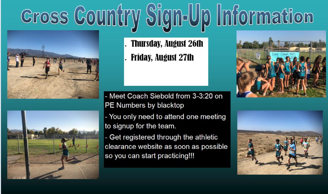 Cross Country Info