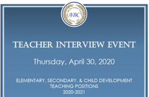 teacher interview flyer
