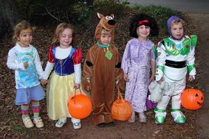 image of children dressed up for Halloween