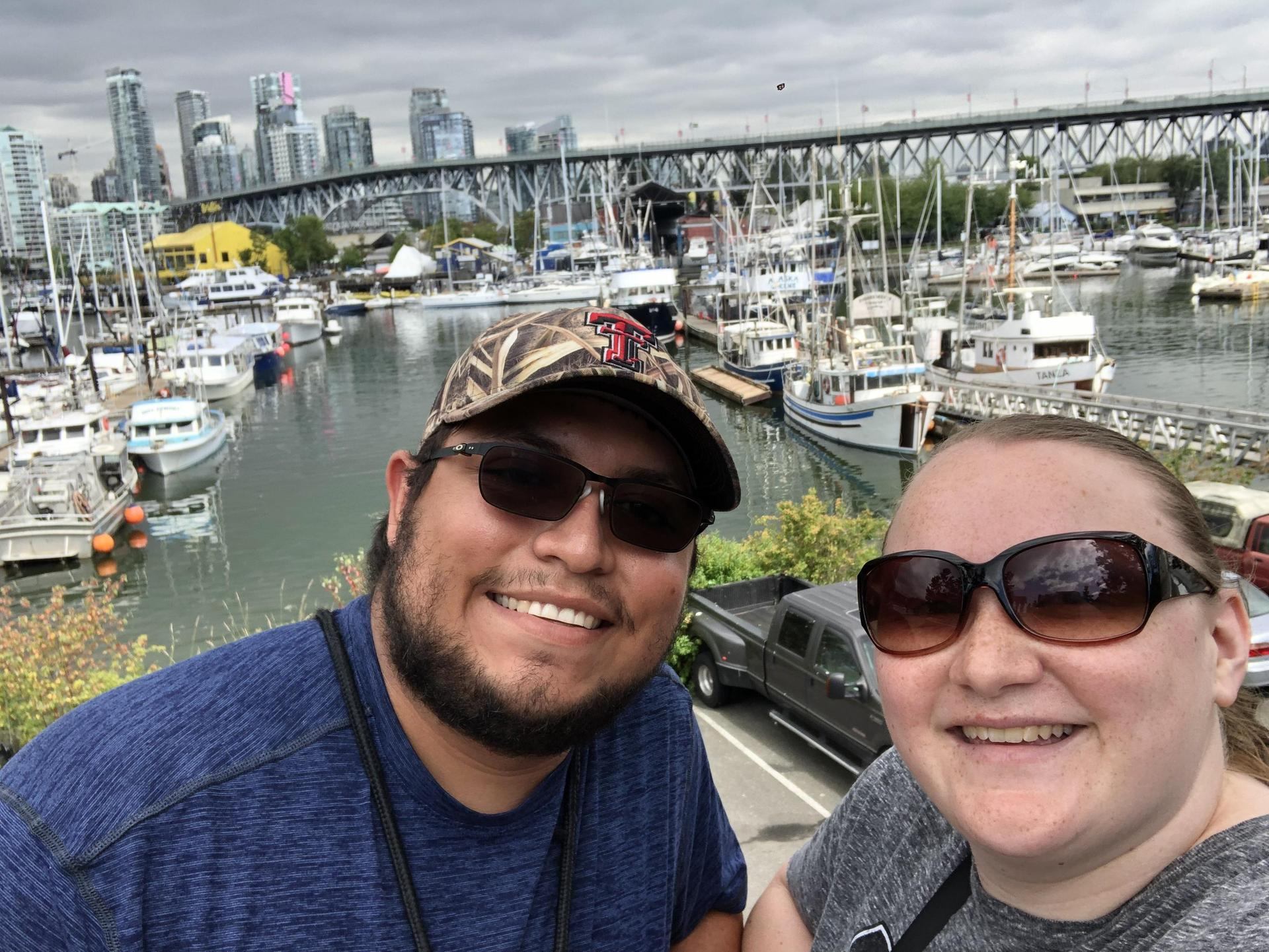 My husband and I in Vancouver, British Columbia.