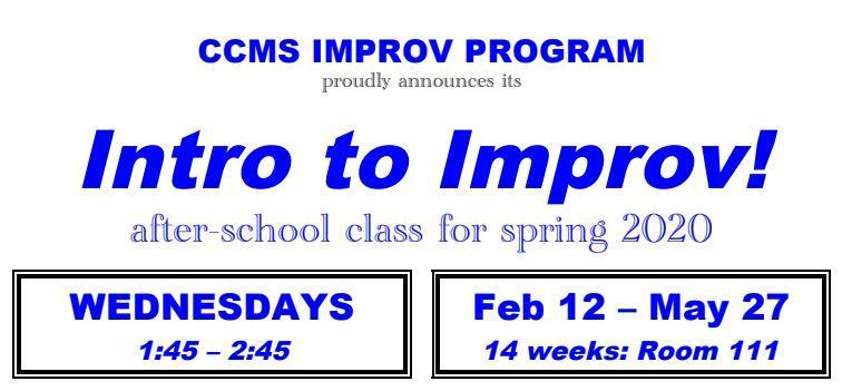 New Class - Intro to Improv! Thumbnail Image