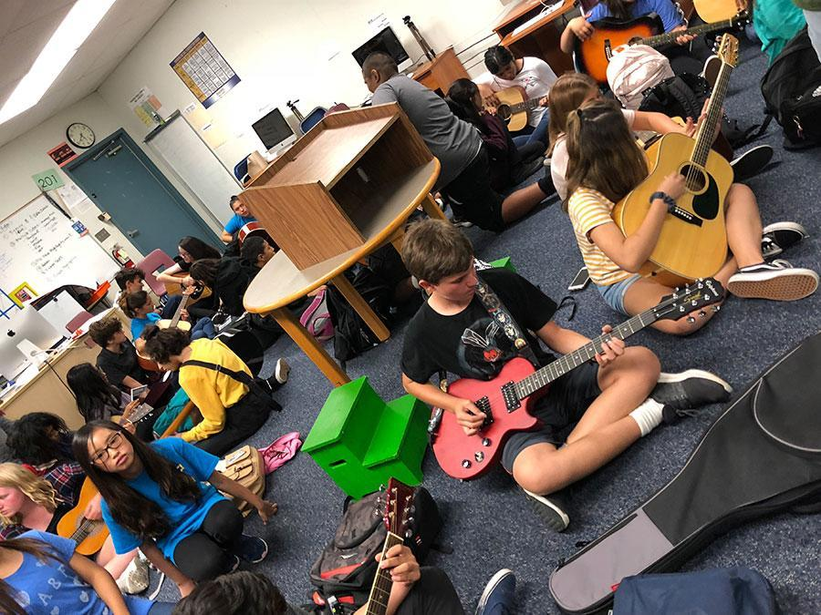 Guitar Club at Kraemer Middle School