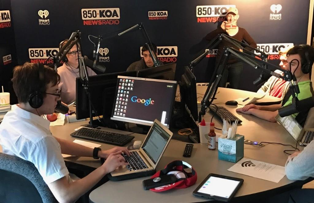 STEM Students are guests on KOA to share work in AI