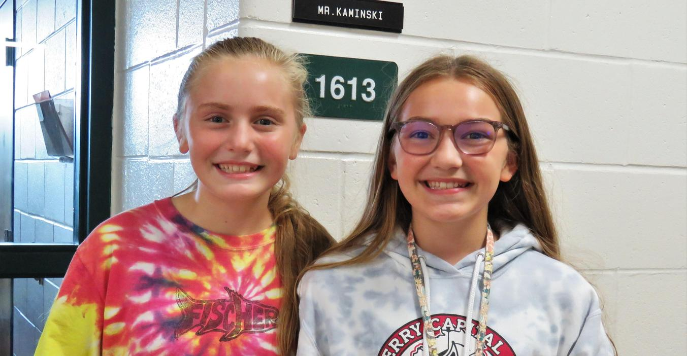 Two middle school students at the activity night.
