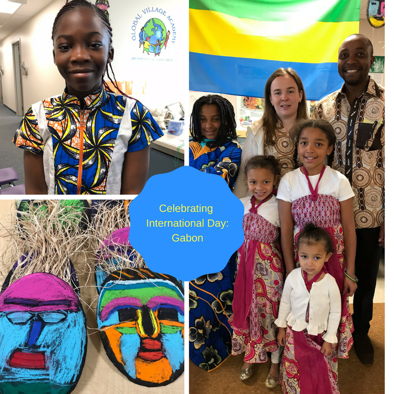 gva students in traditional african garments