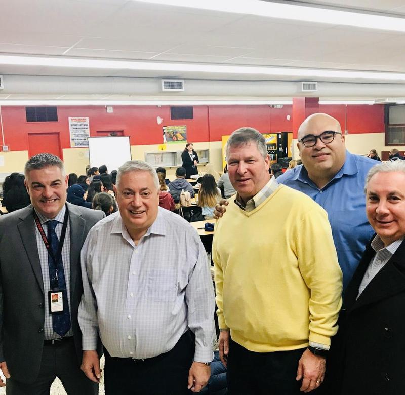 Principal Locricchio, Mayor Sacco, Superintendent Solter, Commissioner Marenco and Freeholder Vanieri