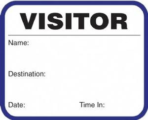 visitor badge