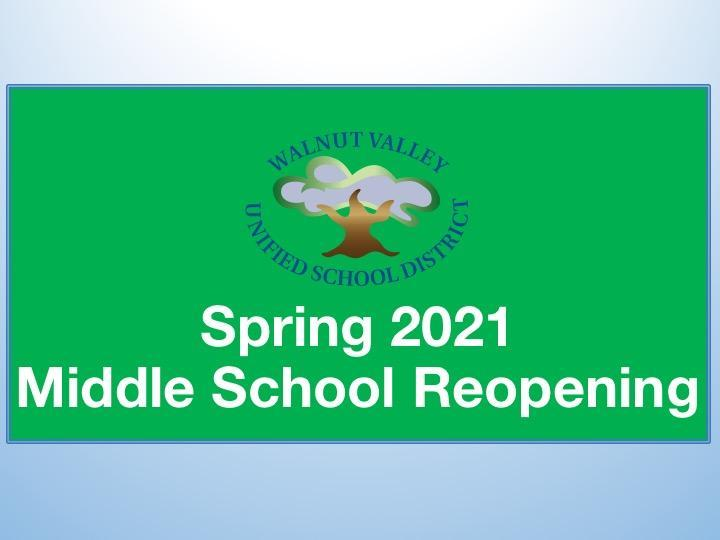 Spring 2021 Middle School Reopening Featured Photo