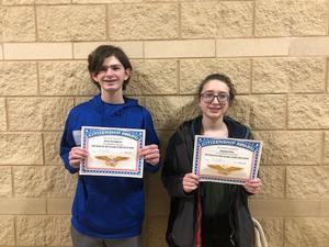 8th Grade Citizenship Winners