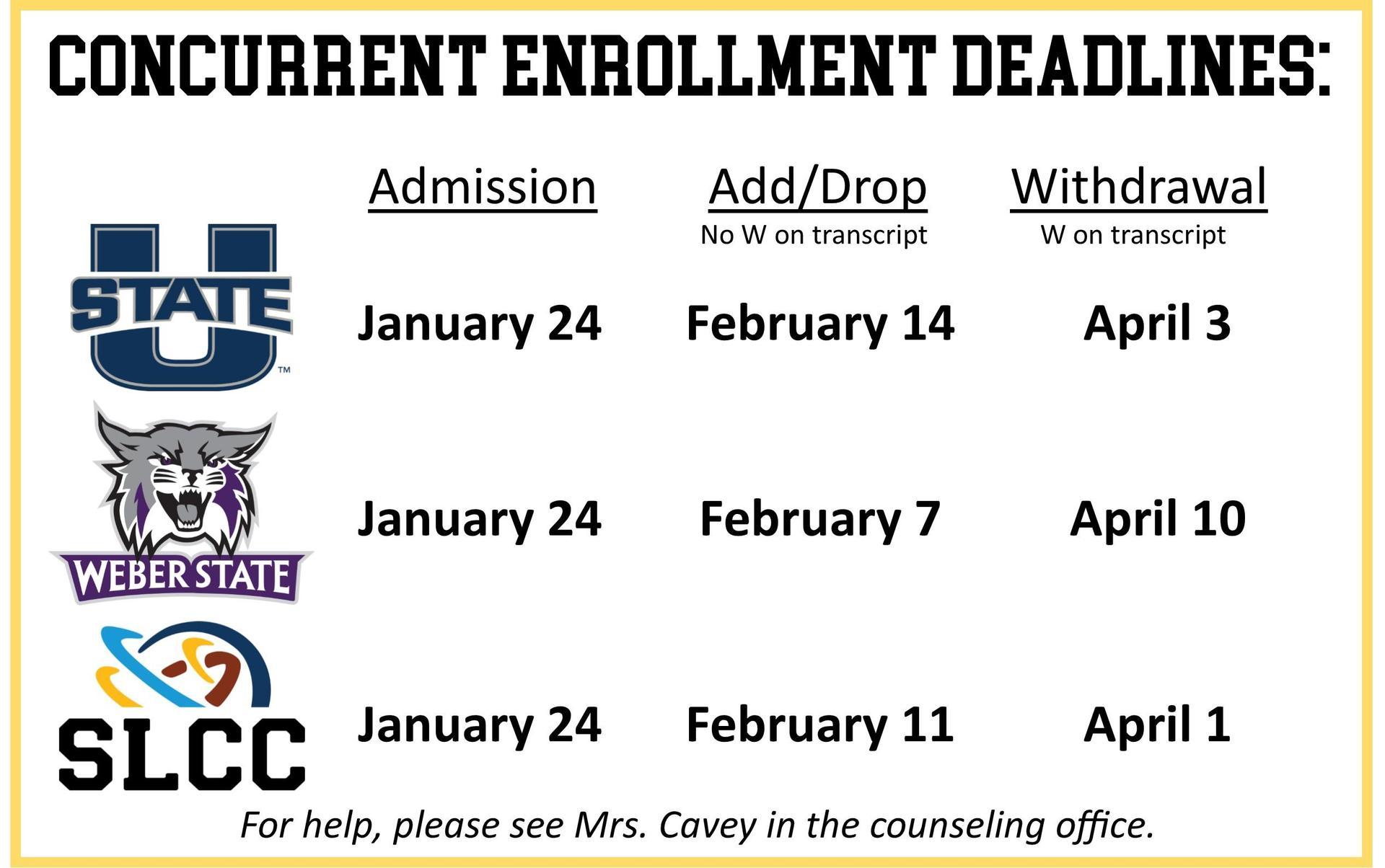 CE Deadlines