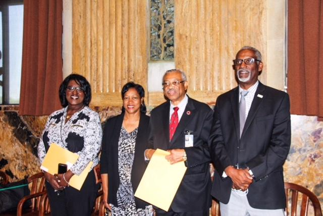 Photo of the BHS Band at the LA State Capital