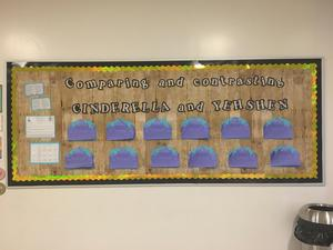 compare and contrast bulletin board of final work