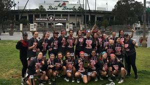 Palos Girls Lacrosse Team 2019 after Rose Bowl Tournament win.