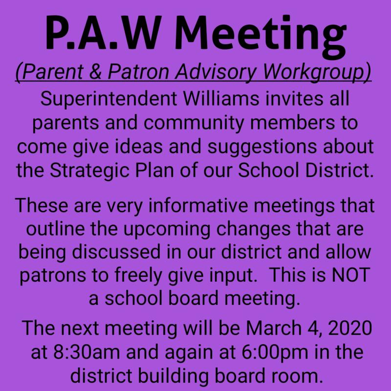 PAW Meeting