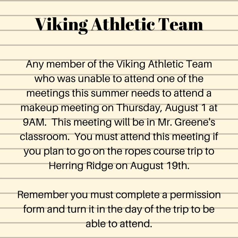 Viking Athletic Team Announcement Thumbnail Image