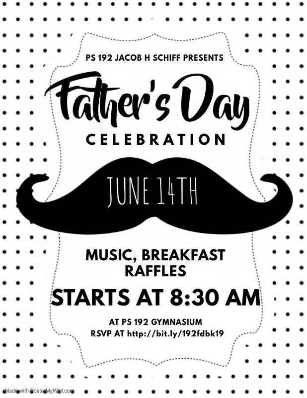 Father's day flier english with big mustache