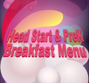 Head Start & PreK August Breakfast Menu Featured Photo