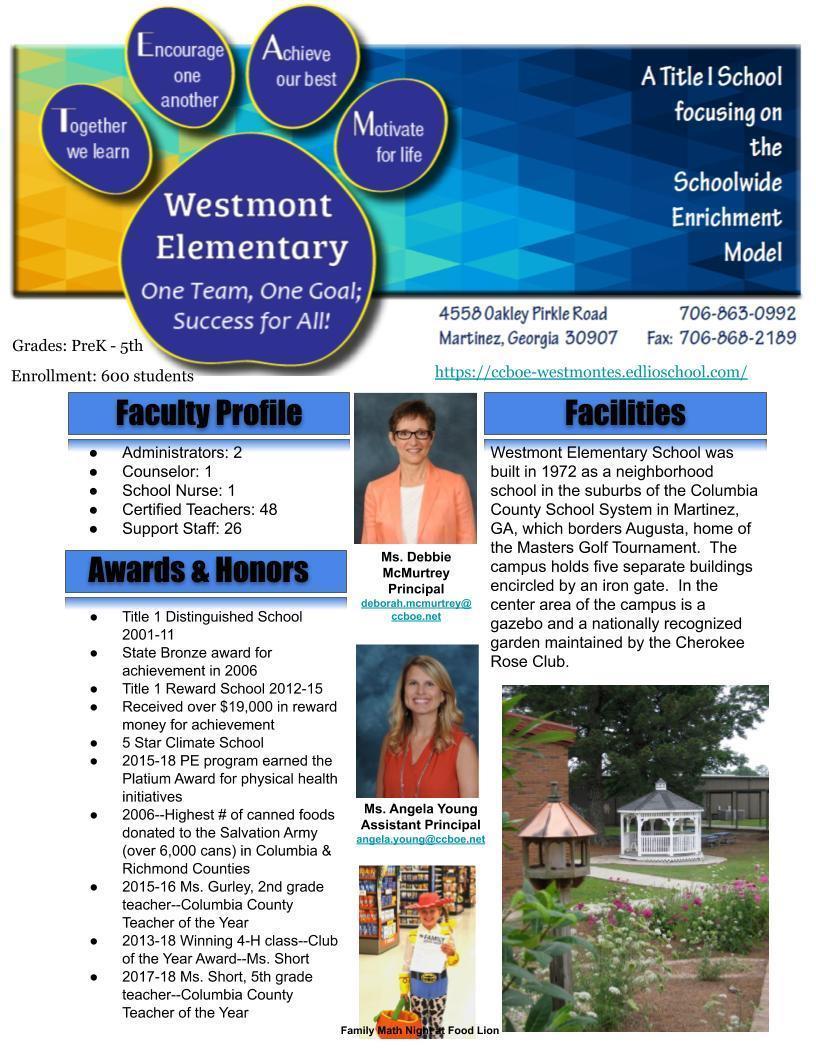 school profile page 1