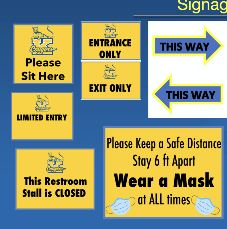 Image for Safety protocols at Kaiser. various signs.