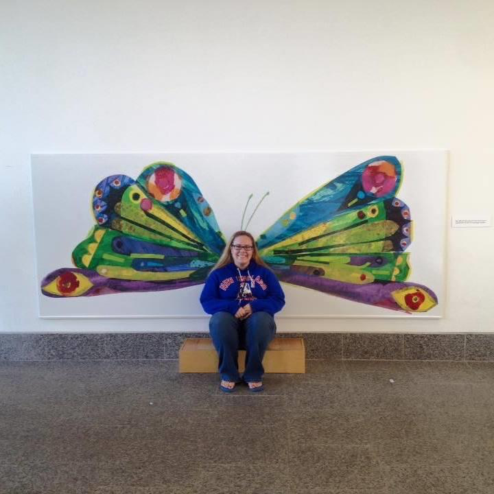 Here I am at The Eric Carle Museum in Amherst, Massachusetts.