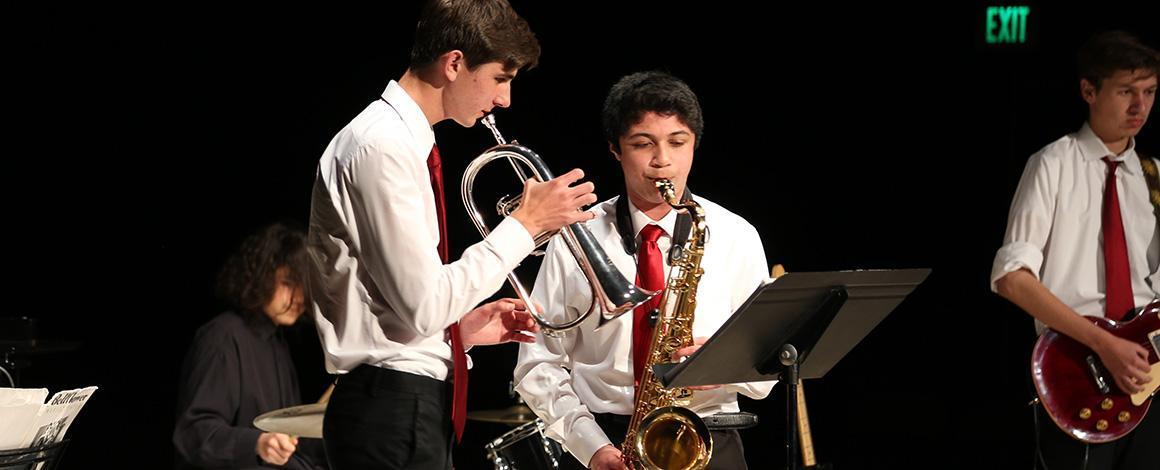 Honors Music Recital 2019 band horns close-up photo