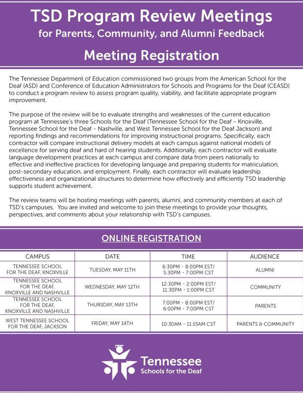 TSD Program Review Meeting Flyer 5-6-2021