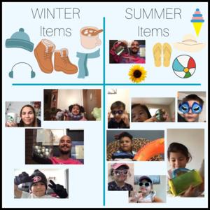 Seasonal clothes chart
