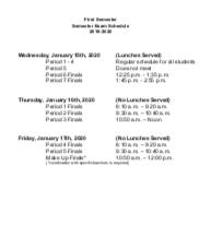 1st Semester 2019-2020 Finals Schedule Featured Photo