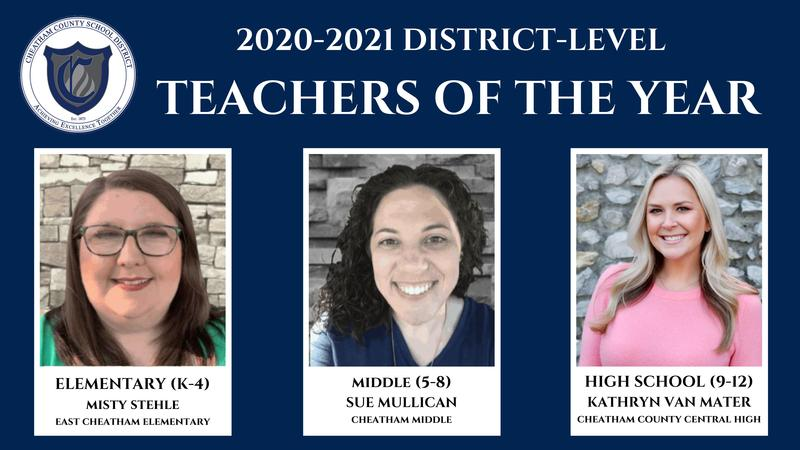 District-level Teachers of the Year