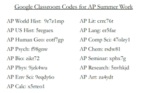 summer codes