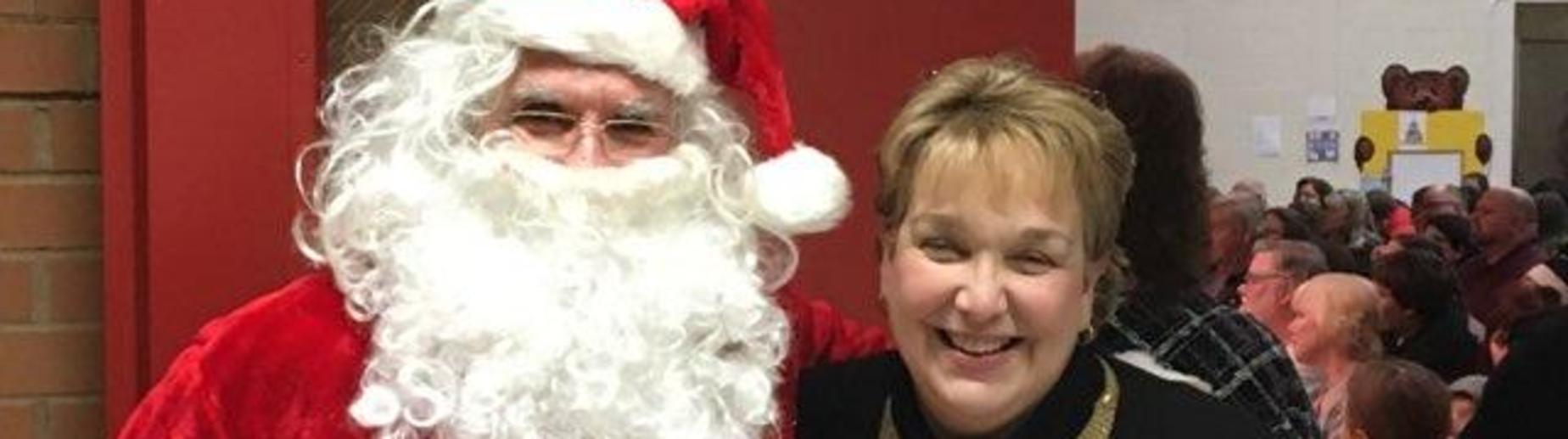 Mrs. Grow and Santa
