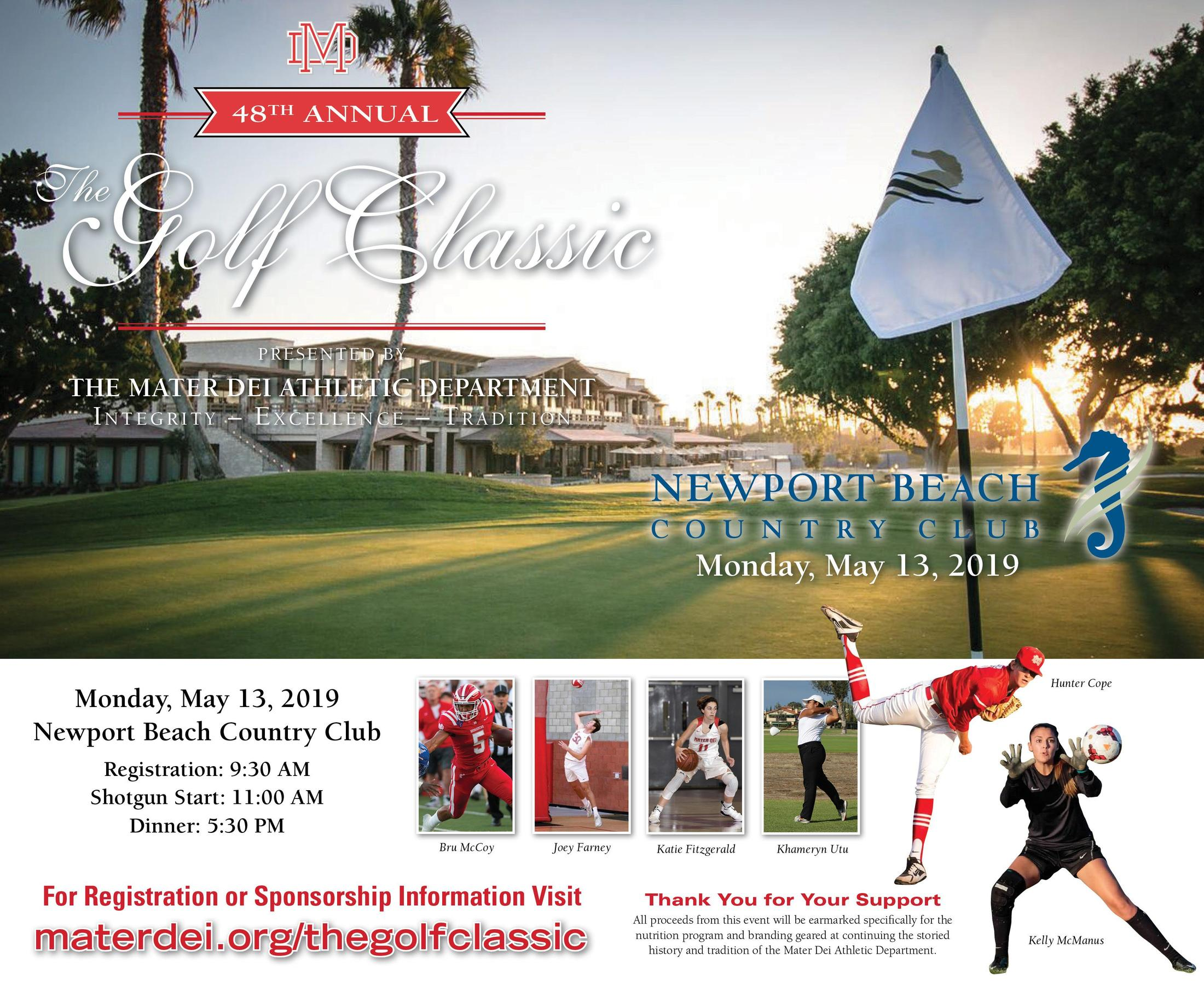 2019 Golf Classic General Athletic Department Information Mater