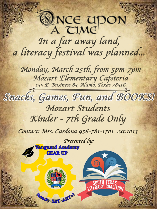 Come join us for our Mozart Family Literacy night March 25 Featured Photo