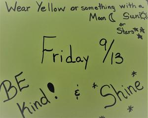 Dress up this Friday.