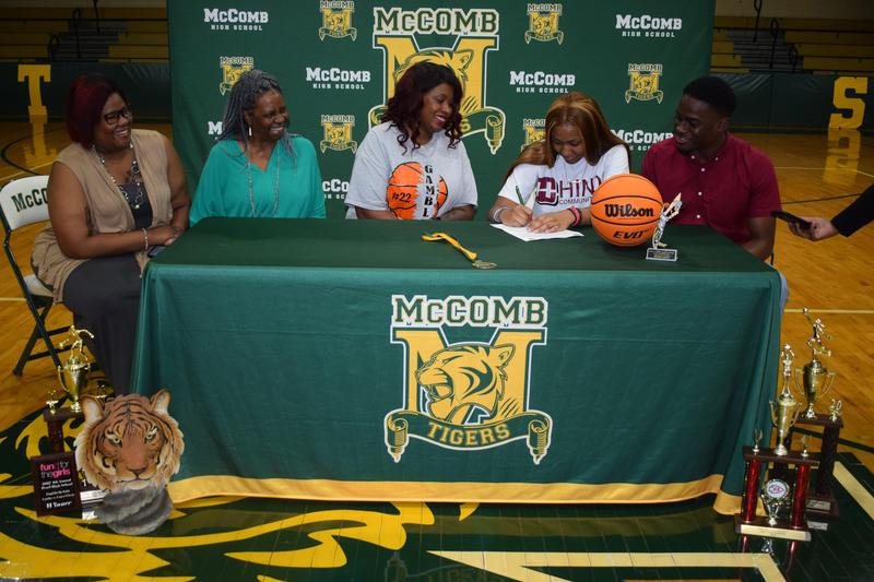 McComb High School Basketball Player  Signs Scholarship to Hinds Community College