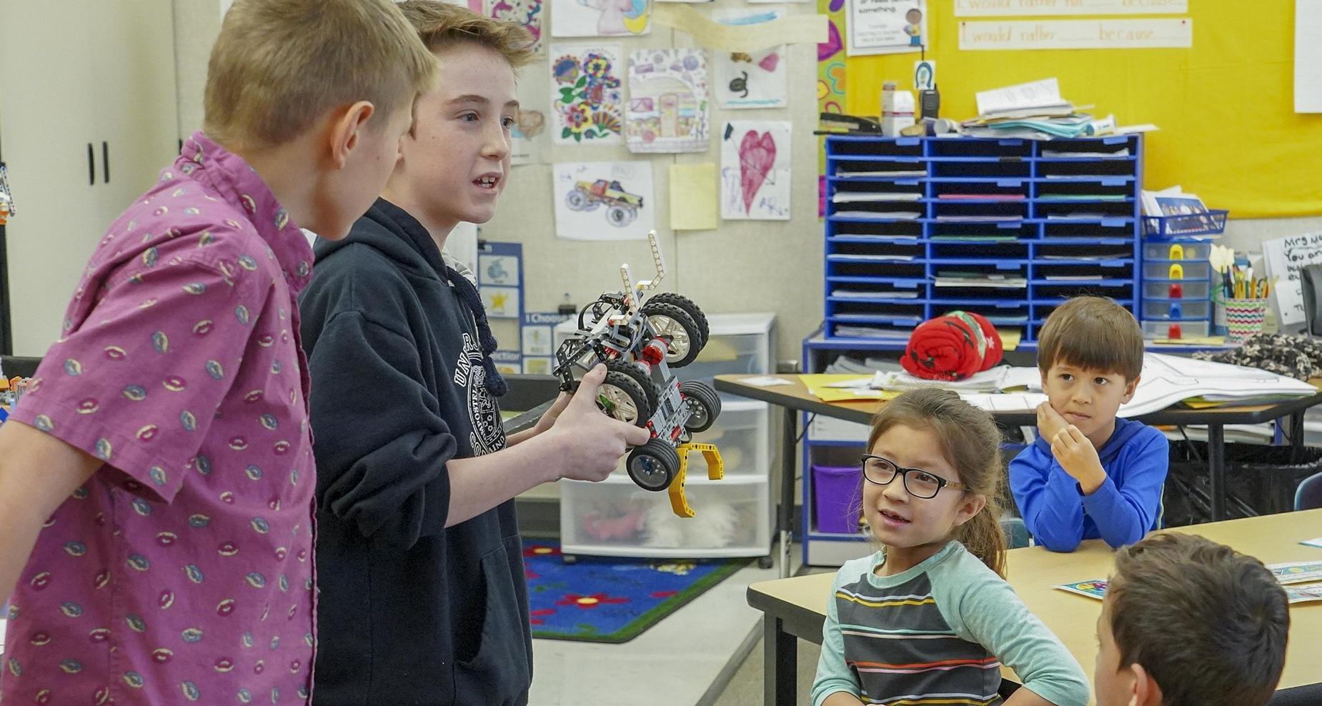 Robotics team at Desert View Elementary.