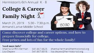 College & Career Night Flyer Eng