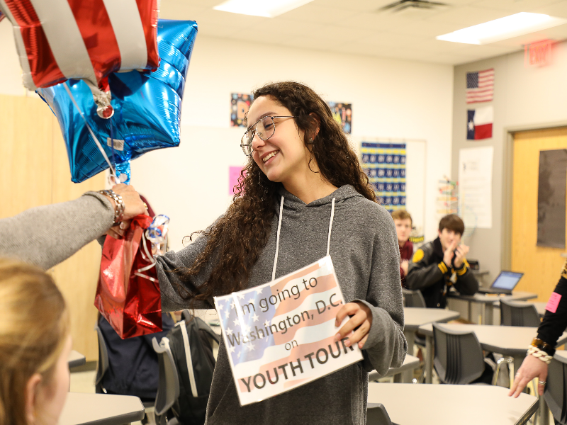 Crandall High School students win Youth Tour experience Featured Photo
