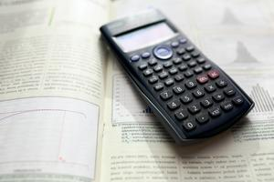 Textbook and calculator