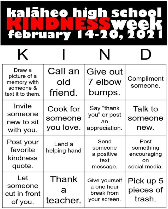 Kindness Week--February 14-20