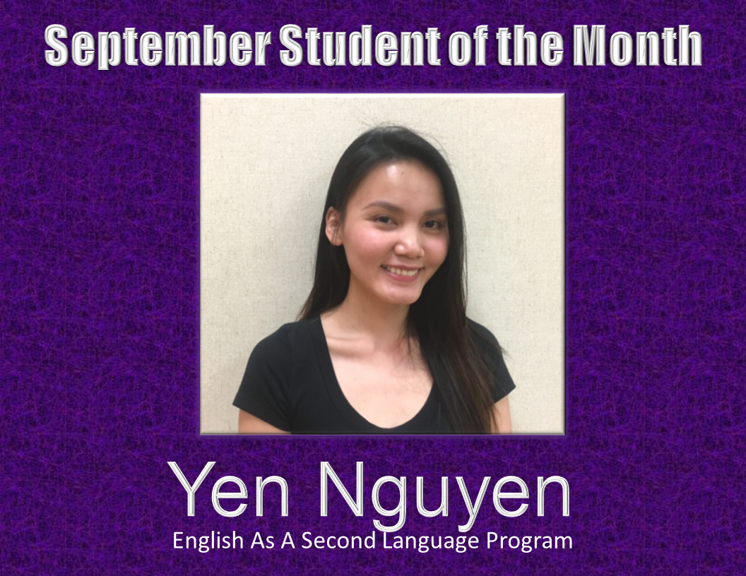 ESL Student of the Month