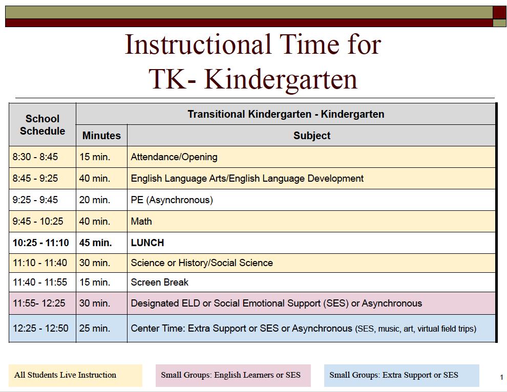 TK-K Schedule