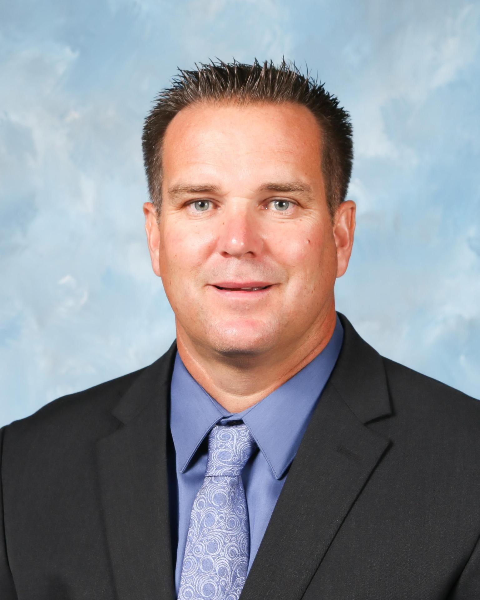 Photo of the principal, Jason Miller