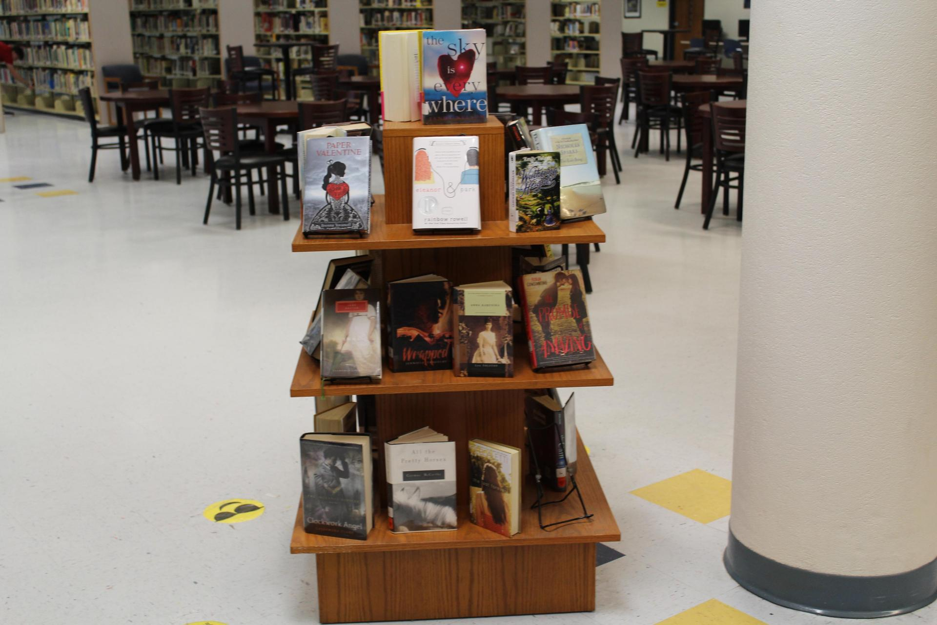 Book display at Gautier High School Library