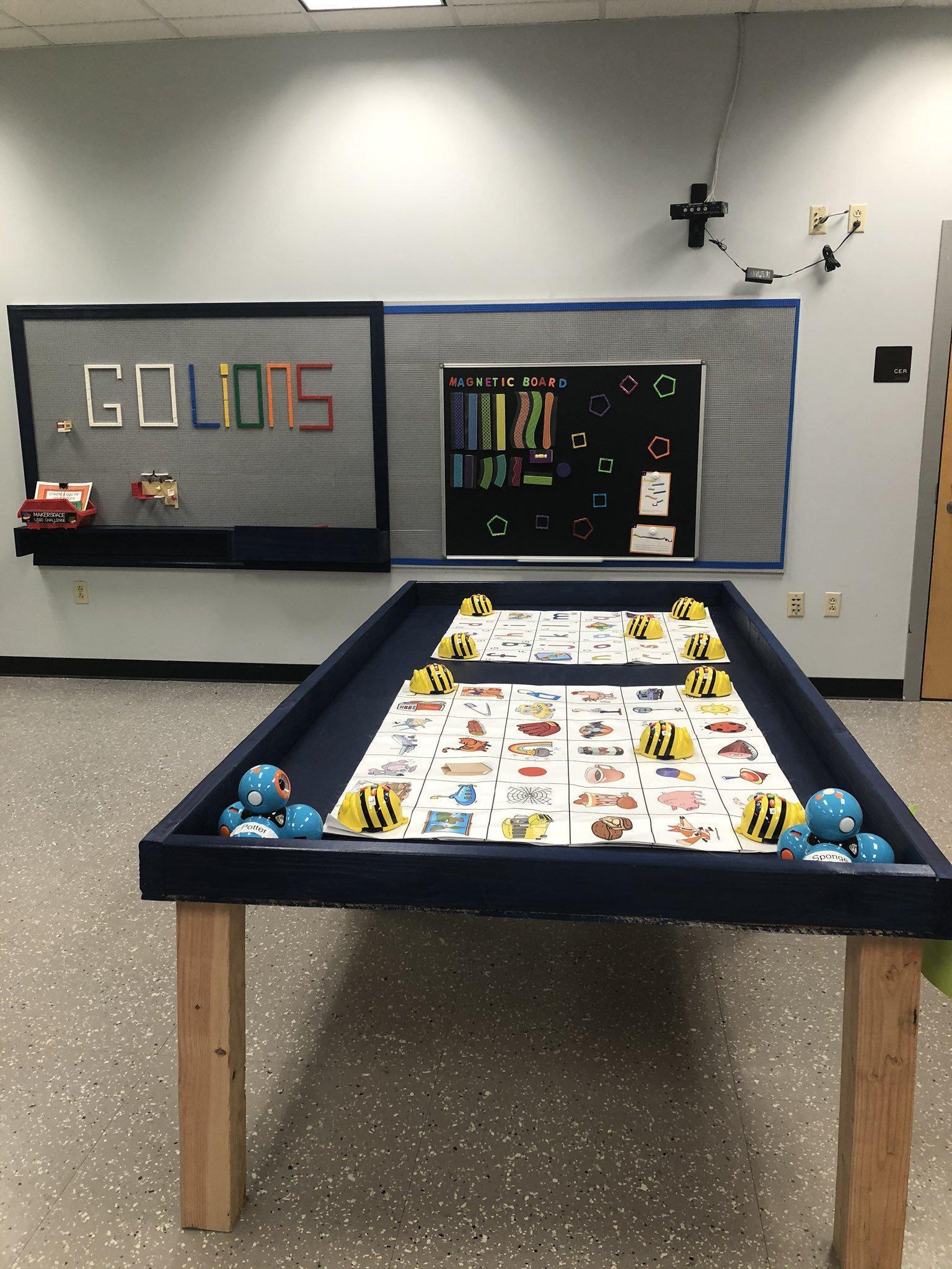 Lego Wall and Robotics Table
