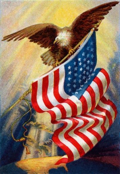 flag and eagle