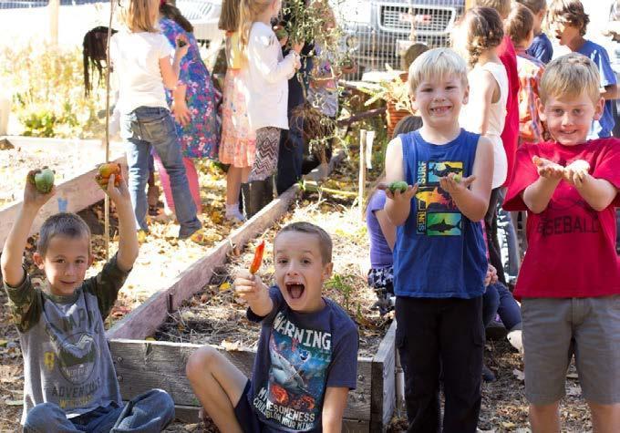 Students in the QES Garden
