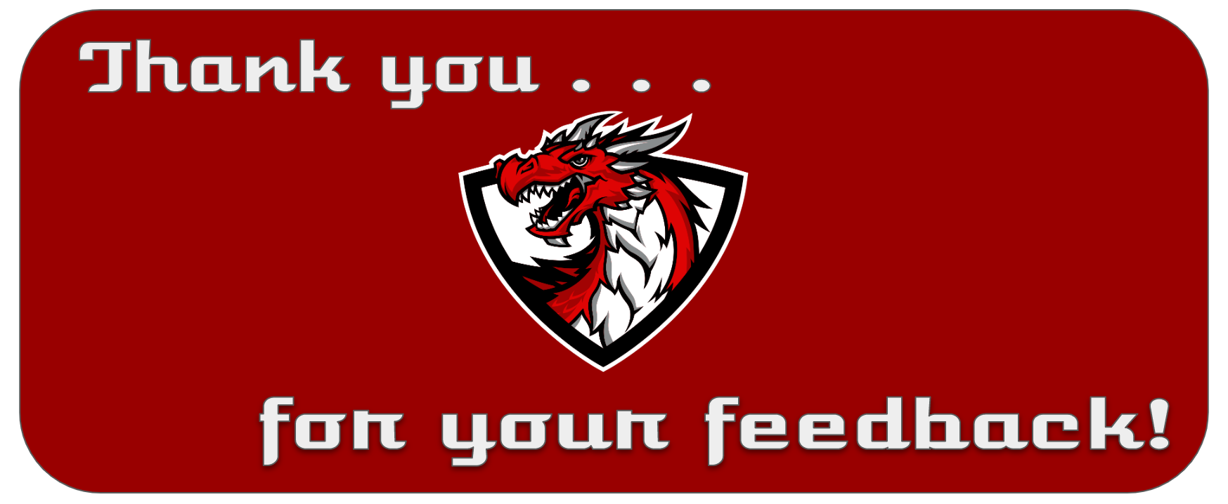 Thank you for the feedback message upon the school logo.