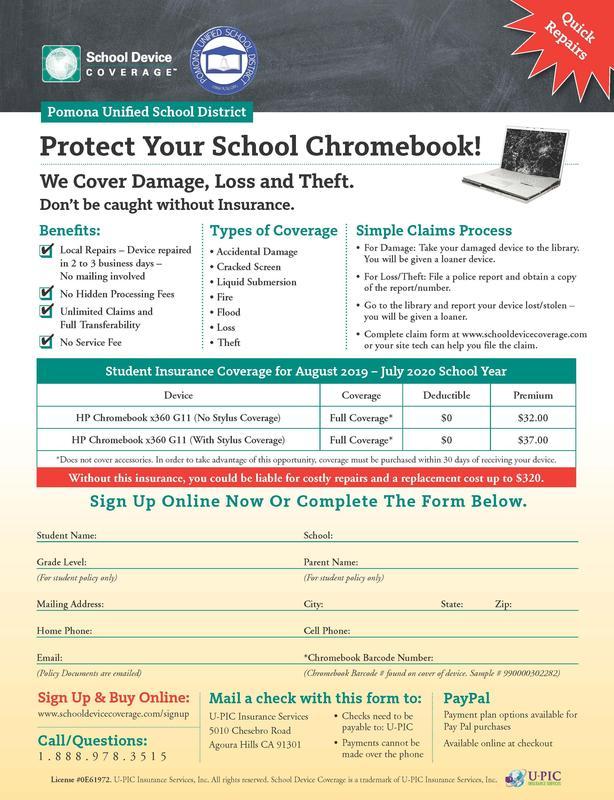 Chromebook Insurance Flyer